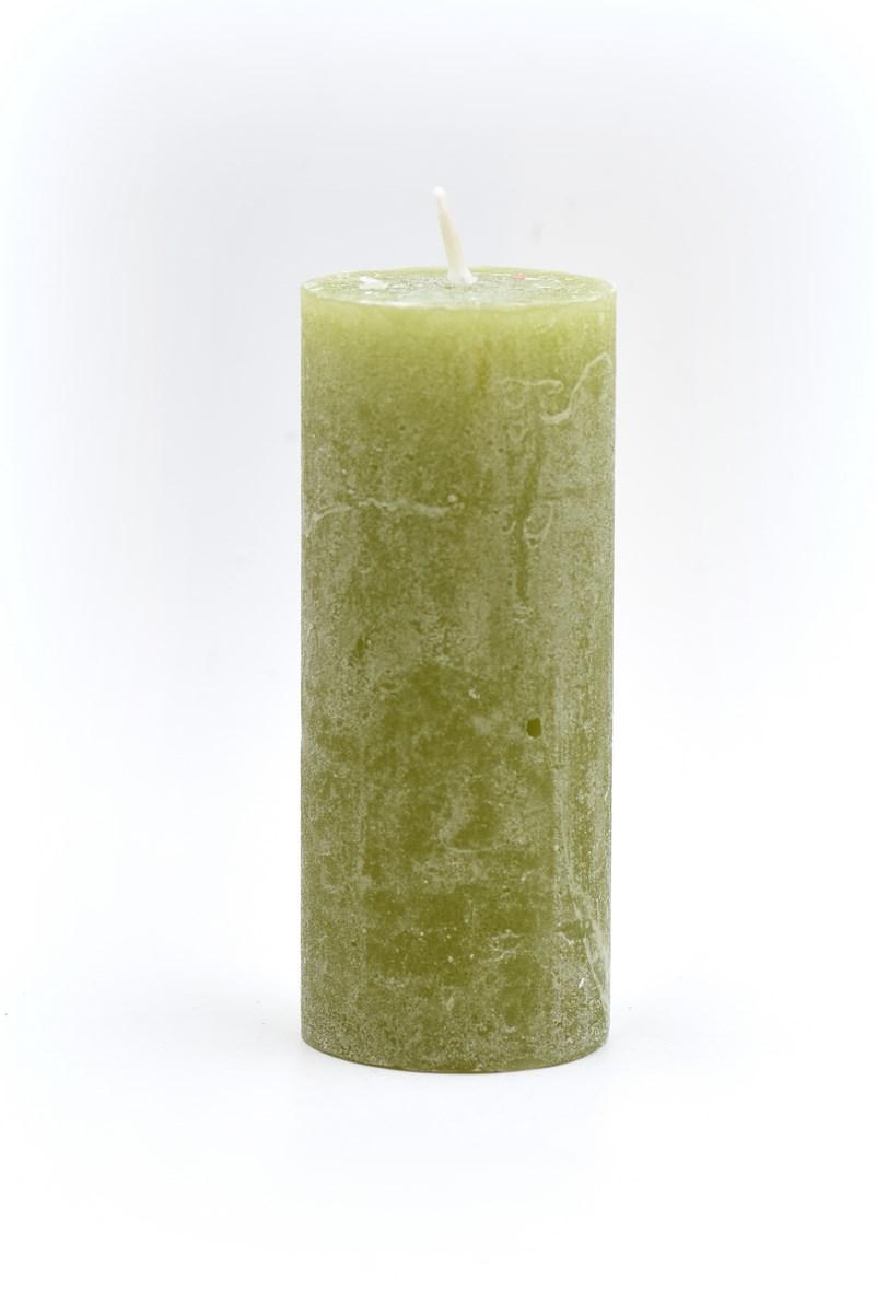 5 x 12 cm henger gyertya oliva