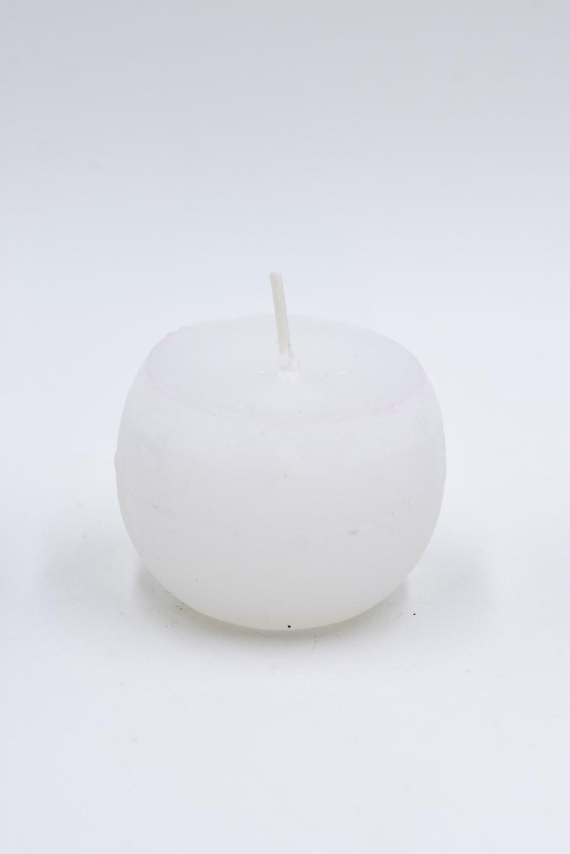 Golyó gyertya 6 cm-es rusztikus fehér