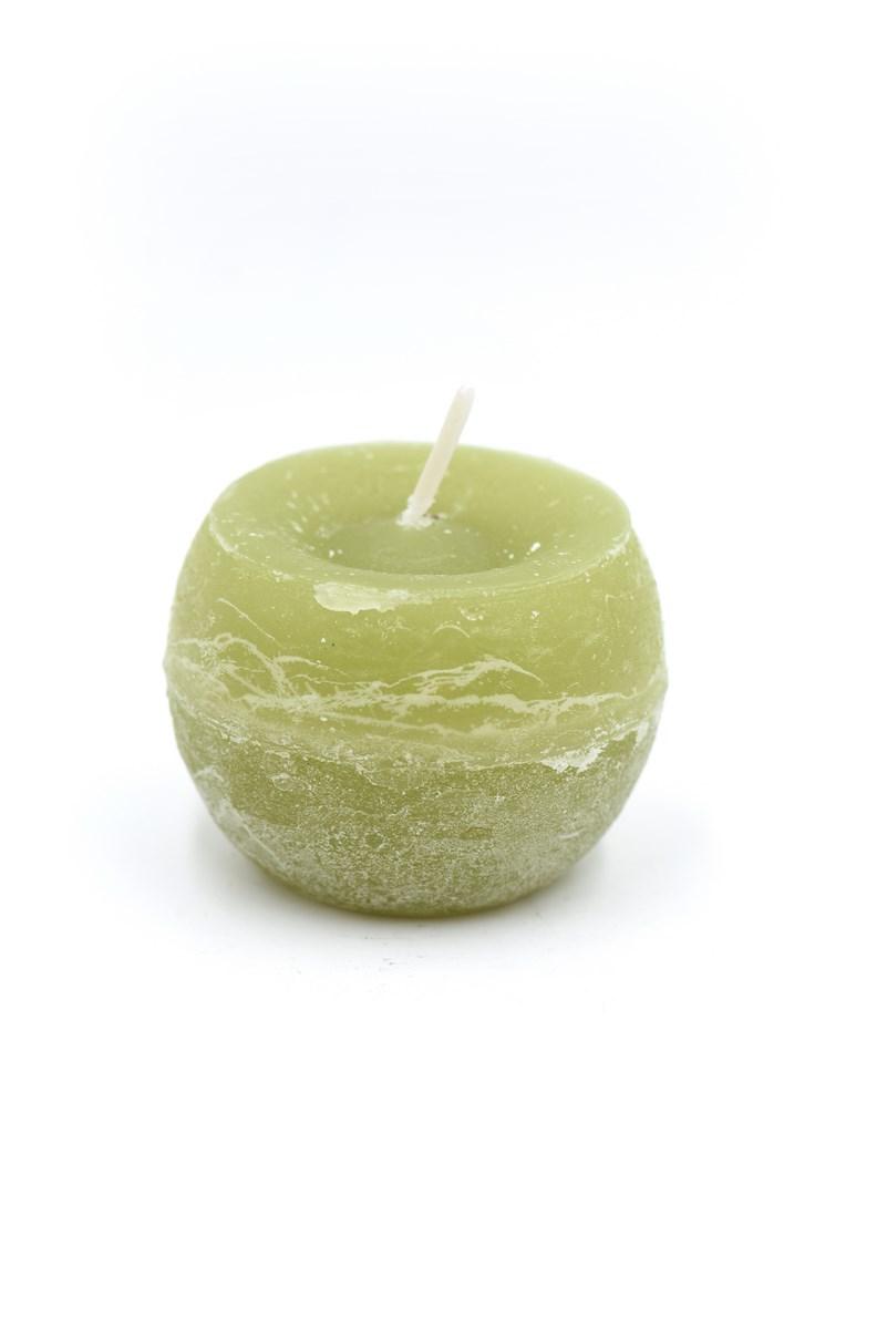 Golyó gyertya 6 cm-es rusztikus oliva