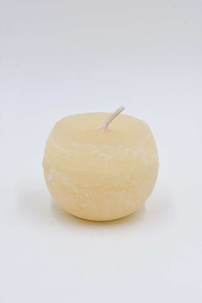 Golyó gyertya 6 cm-es rusztikus krém