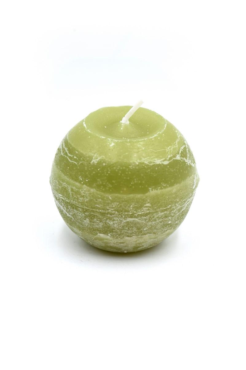 Golyó gyertya 8 cm-es rusztikus oliva