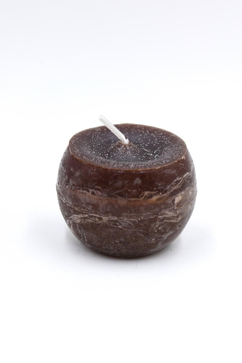 Golyó gyertya 6 cm-es rusztikus mokka